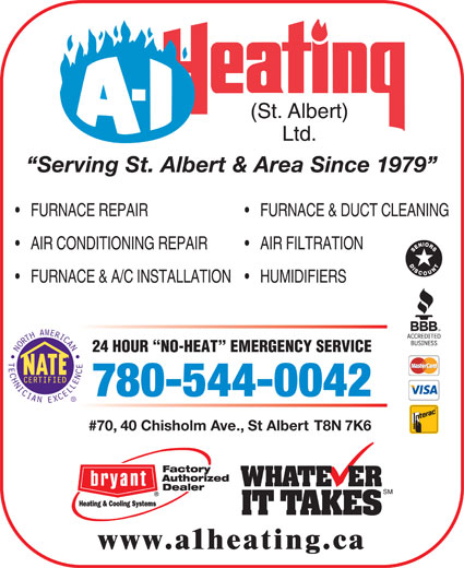 Ads A-1 Heating St Albert Ltd