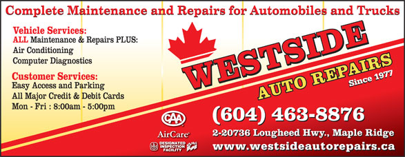 Ads Westside Auto Repairs