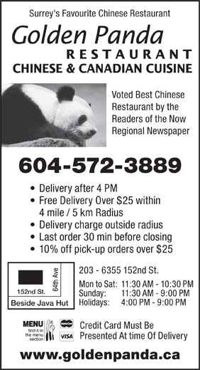 Ads Golden Panda Restaurant Ltd