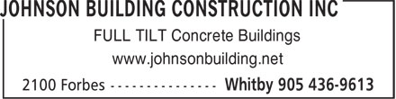Ads Johnson Building Construction Inc