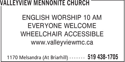 Ads Valleyview Mennonite Church