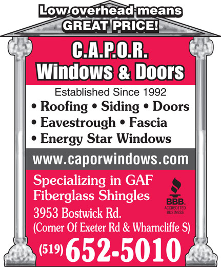 Ads Capor Windows & Doors