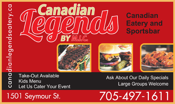 Ads Canadian Legends Eatery by M.I.C.