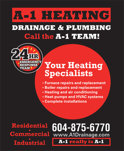 Ads A-1 Heating Drainage &amp; Plumbing