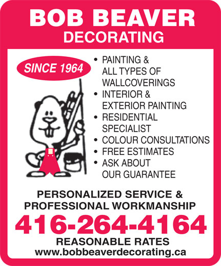 Ads Beaver Bob Decorating