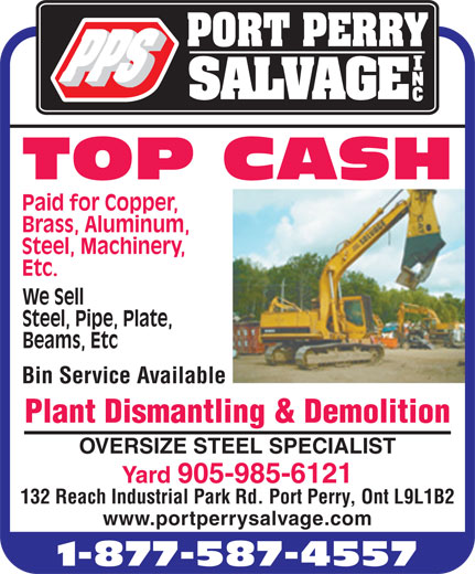 Ads Port Perry Salvage Inc