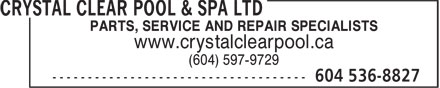 Ads Crystal Clear Pool & Spa Ltd