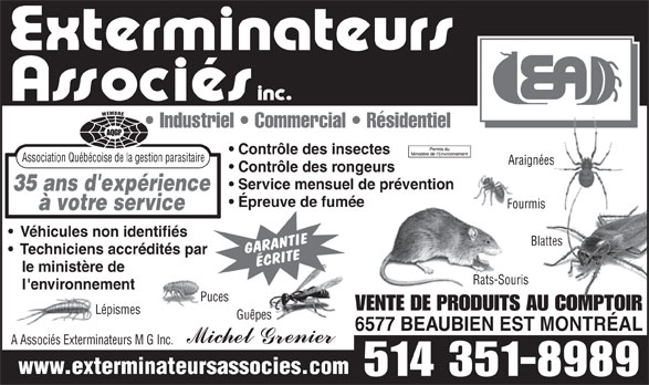 Ads Exterminateurs Associs Inc