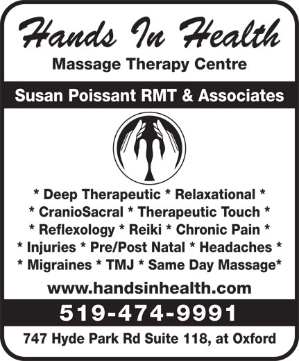 Ads Hands In Health Massage Therapy &amp; Wellness Centre