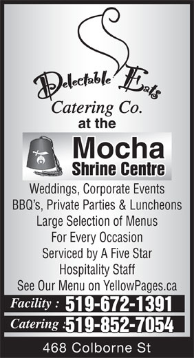Ads Delectable Eats at the Mocha Shrine Centre