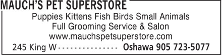 Ads Mauch's Pet Superstore