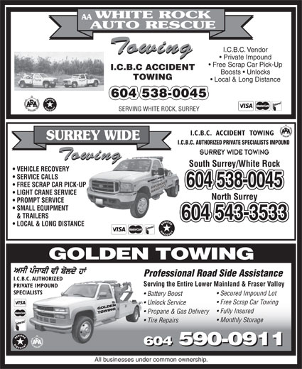 Ads Golden Towing