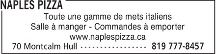 Ads Naples Pizza