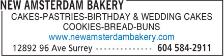 Ads New Amsterdam Bakery