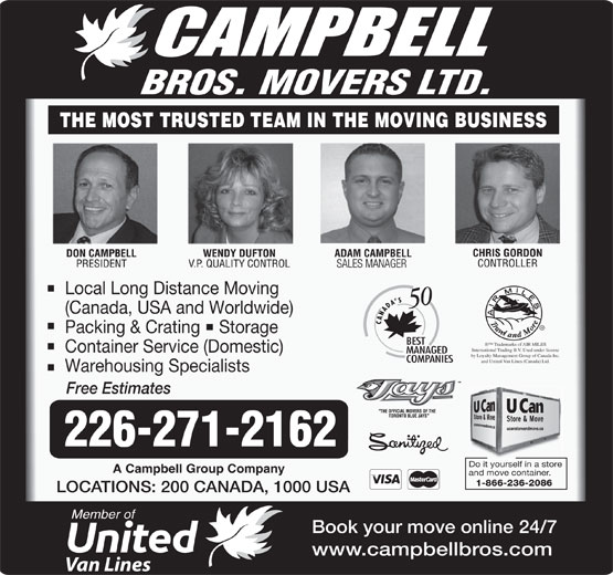 Ads Campbell Bros Movers Ltd