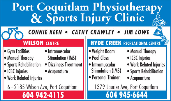 Ads Port Coquitlam Physiotherapy & Sports Injury Clinic