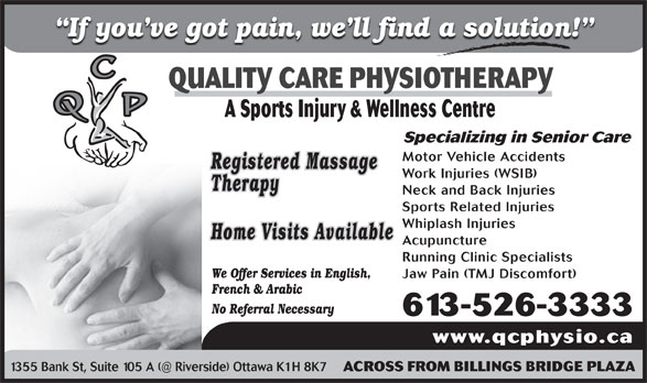 Ads Quality Care Physiotherapy