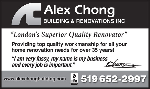 Ads Alex Chong Building & Renovations Inc