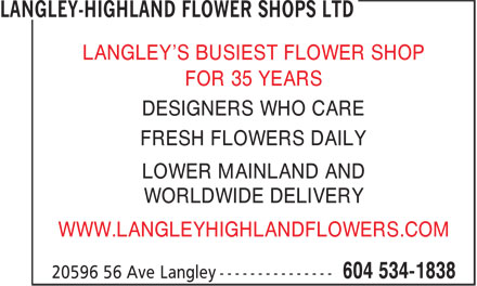 Ads Langley-Highland Flower Shops Ltd