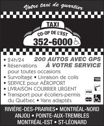 Ads Taxi Co-Op de L'Est