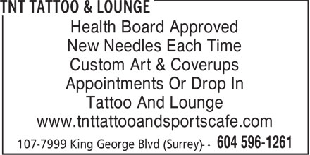 Ads TNT Tattoo & Lounge