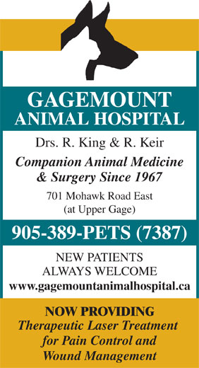 Ads Gagemount Animal Hospital