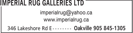 Ads Imperial Rug Galleries Limited