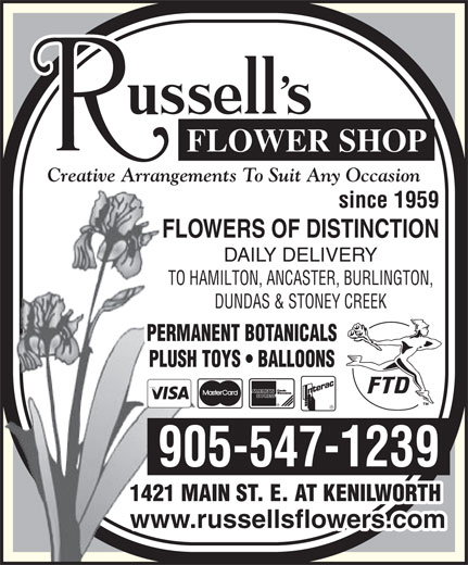Ads Russell's Flower Shop