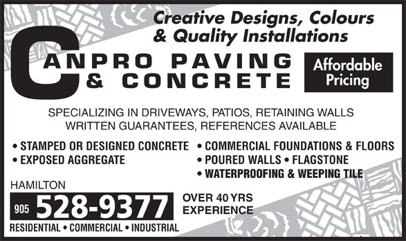 Ads Canpro Paving & Concrete