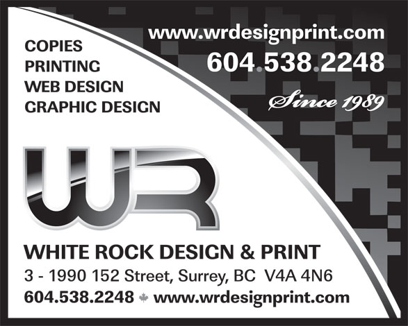 Ads White Rock Design & Print