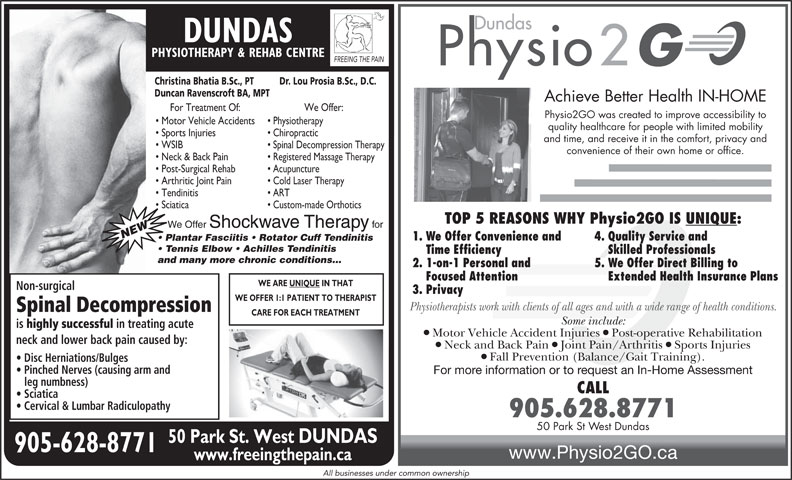 Ads Dundas Chiropractic Office