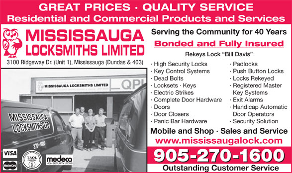 Ads Mississauga Locksmith