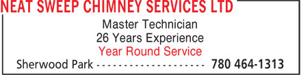 Ads Neat Sweep Chimney Services Ltd - Professional Year Round Service