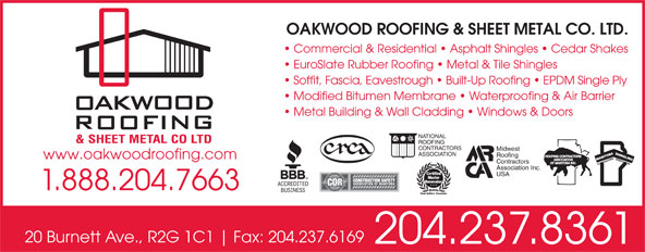 Ads Oakwood Roofing & Sheet Metal Co Ltd
