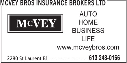 Ads McVey Bros Insurance Brokers Ltd