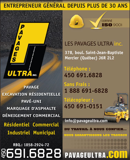Ads Pavages Ultra Inc (Les)