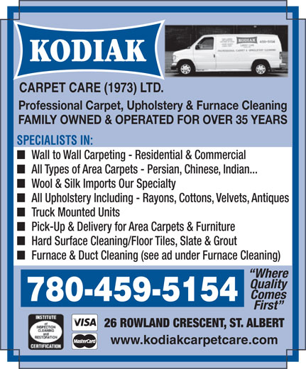 Ads Kodiak Carpet Care (1973) Ltd