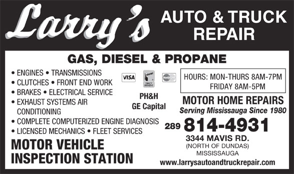 Ads Larry&#039;s Auto Repair