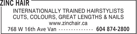 Ads Zinc Hair Inc