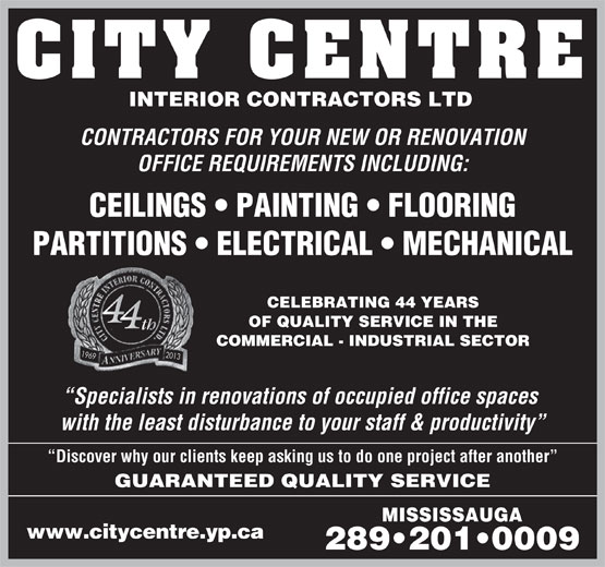 Ads City Centre Interior Contractors Ltd