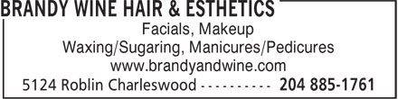 Ads Brandy & Wine Hair Esthetics & Tanning