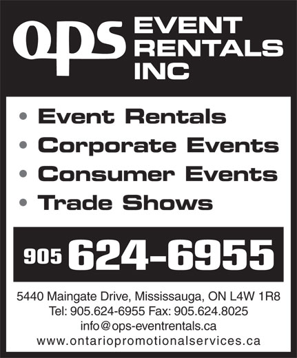 Ads OPS Event Rentals Inc