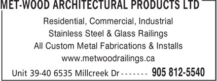 Ads Met-Wood Architectural Products Ltd