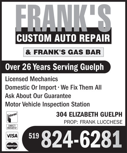 Ads Frank's Custom Auto Repair