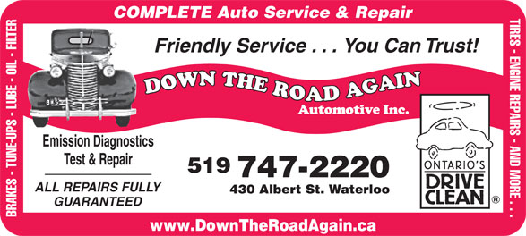 Ads Down The Road Again Automotive Inc