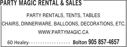 Ads Party Magic Rental & Sales
