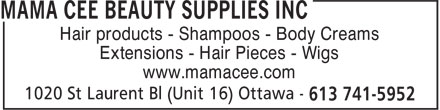 Ads Mama Cee Beauty Supplies Inc