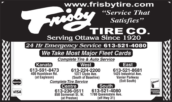 Ads Frisby Tire Co (1974) Limited West Branch