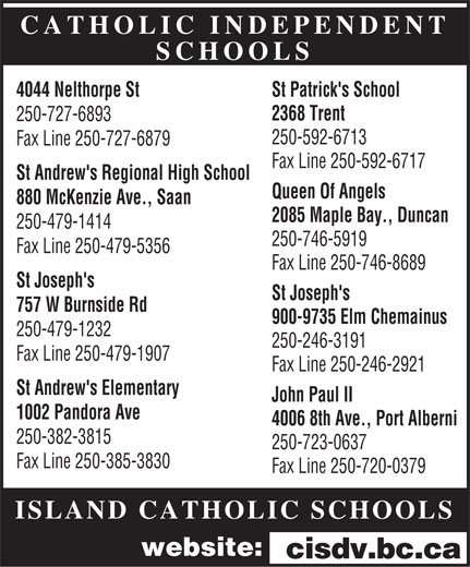 Ads Catholic Independent Schools