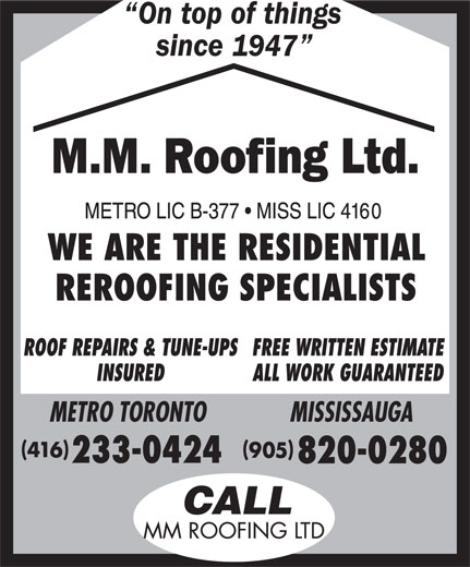 Ads MM Roofing